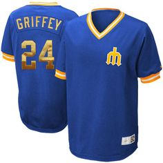 Nike Ken Griffey Jr. Seattle Mariners Cooperstown Collection Throwback Jersey - Royal Blue 1