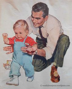 ♥ One of my favourite images! Found this original illustration while looking through some of my grandma's old papers.