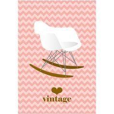 Carte Postale Fauteuil Eames
