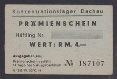 GERMANY  4 RM (1943-1944) -UNC  WORLD WAR II - Camp DACHAU ,  Mega rare !!!