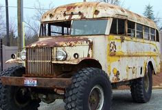 Monster school bus | Looks like a old Dodge | Dave ~ | Flickr