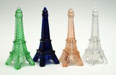 Small Glass Eiffel Tower figurines #PLL