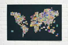 dekoration recyclingmaterialien interieur briefmarken