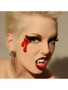 Sexy Bloodlust Glitter Eyes False Eyelashes Vampire Costume Makeup Xotic Eyes