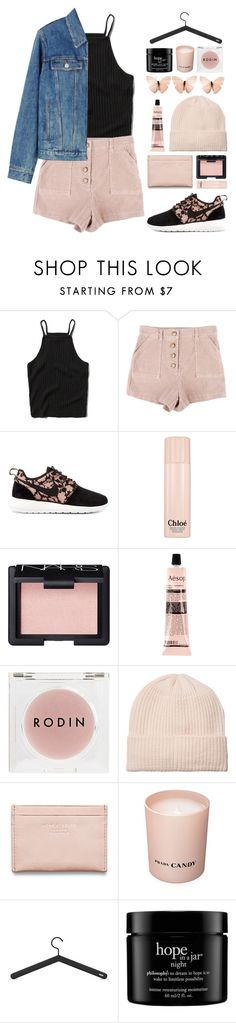 """""""Don't Talk to Me"""" by dana-rachel ❤ liked on Polyvore featuring Abercrombie & Fitch, NIKE, Chloé, NARS Cosmetics, Aesop, Rodin Olio Lusso, Monki, Acne Studios, Prada and Skagerak"""