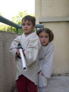 Luke Skywalker & Princess Leia halloween costumes