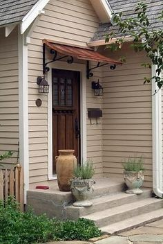 Front and back porch metal awning ideas. Would help keep the steps from icing over and guests would be spared the elements earlier. & DIY Free Plans For Building Wooden Window Awnings Wooden PDF ...