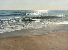 "Steve Mills ~ ""Dabby's Beach"" ~ 18 x 24"" Oil on Linen-1992"