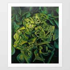 Collect your choice of gallery quality Giclée, or fine art prints custom trimmed by hand in a variety of sizes with a white border for framing.FREE WORLDWIDE SHIPPING  TODAY! A Skeleton Embracing A #zombies #halloween2017 #horror Throw #pillow https://society6.com/product/a-skeleton-embracing-a-zombie-halloween-horror_pillow#s6-1476864p26a18v126a25v193