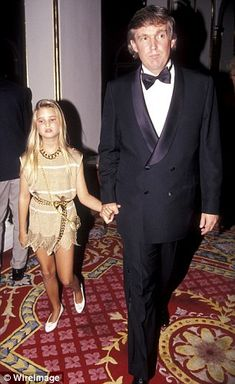 'I was probably 10 years old and I called collect to the Trump Organization, which is hilarious,' Ivanka told CNN (left, Ivanka with her father in 1991 and right, in 1988)