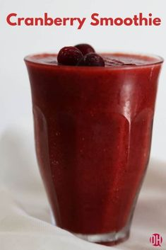 A delicious, highly nutritious and healing cranberry smoothie that's easy to make. Use fresh or frozen berries for a year-round treat. Cranberry Recipes Healthy, Fruit Recipes, Fresh Cranberry Juice Recipe, Cake Recipes, What Is Cranberry, Cranberry Detox, Cranberry Smoothie, Milkshakes, Recipes