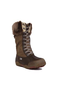 Pajar Women's Garland Tall Faux Fur Winter Boots - Cognac