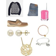 Always accessorize  by lillypulitzera on Polyvore featuring polyvore, fashion, style, J.Crew, Abercrombie & Fitch, Sperry Top-Sider, Lord & Taylor, Alex and Ani and Essie