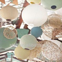 #japanese paper lanterns, #striped paper lanterns, #cheap chinese lanterns