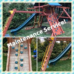 Refurbish: sand, stain/seal, tune-up Wood Playground, Relocation Services, Seal, Harbor Seal