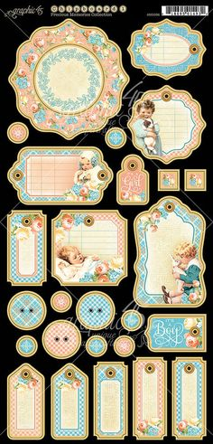 Graphic 45 Precious Memories Chipboard 1 - Journaling - Item 4501096