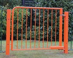 Premier Safe hydraulic self closing gate. Designed with safety in mind using our extensive experience.