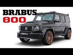 BRABUS 800 with premium bucket seats Benz G, Mercedes G, Forged Wheels, Bucket Seats, Black Gold, Super Cars, Youtube, Toys, Activity Toys