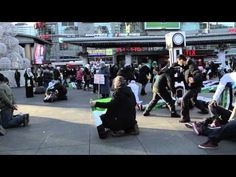 Flash mob performed in Toronto - Dundas Square. This was to raise awareness about the brutal regime in Syria. Over 270 people from different countries attended to support the Syrian uprising.