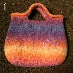 Felted Handbag with beaded embroidery. $50.00, via Etsy. Villilanka, tämä on ihana!