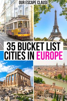 Looking for the best cities to visit in Europe on your next trip? We've rounded them up here! cities in europe Best Cities In Europe, Places In Europe, Europe Europe, Places To Travel, Travel Destinations, Vacation Places, Travel Deals, Travel Hacks, Travel Essentials