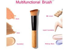 1 unids alta calidad polvo cepillo mango de madera Multi - función rubor cepillo máscara fundación pincel de maquillaje herramienta envío gratuito(China (Mainland))