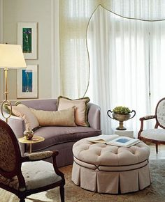 French refinement - pastel colors, exquisite lines and lightness. LOVE IT!