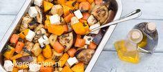 (oven) pompoen , zoete aardappel, aubergine, munt...