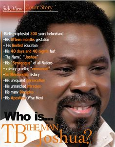 TB_Joshua T B Joshua, Inspire Quotes, Light Of Life, Godly Man, Sai Baba, Jesus Is Lord, Persecution, Black History, Gods Love