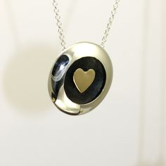 Floating heart gold and silver Handmade Jewellery, Washer Necklace, Wordpress, Heart, Silver, Gold, Jewelry, Handmade Jewelry, Jewlery