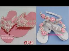 Crochet Shoes, Beaded Jewelry, Flip Flops, Slippers, Diy Crafts, Sandals, Mascara, Youtube, Fashion