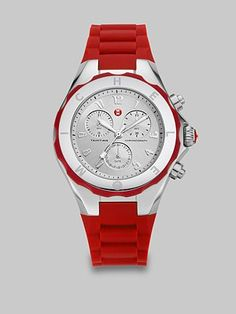Michele Watches Large Stainless Steel Chronograph Watch