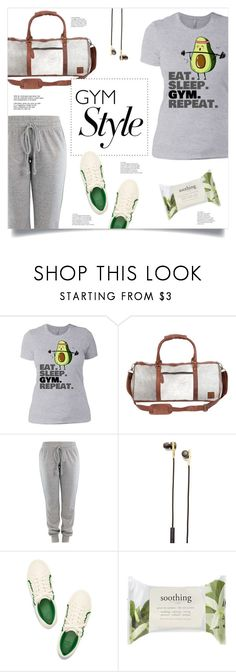 """""""Eat. Sleep. Gym. Repeat."""" by mahafromkailash ❤ liked on Polyvore featuring Caeden and Forever 21"""
