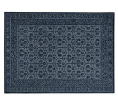 Braylin Rug - Blue in wool