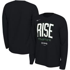95ec610e Boston Celtics Nike 2019 NBA Playoffs Bound Team Mantra Dri-FIT Long Sleeve  T-