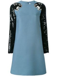 ac06d8dd689 VALENTINO Tiger Sequin Dress.  valentino  cloth  dress Blue Sequin Dress