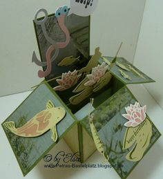 Boxkarte - für Angler Petra, Box, I Card, Gift Wrapping, Happy, Gifts, Cards, Gift Wrapping Paper, Snare Drum