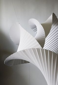 Paper sculpture detail by Richard Sweeney