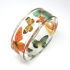 Sylwia Calus : Orange and green Butterflies Bracelet - size s | Sumally