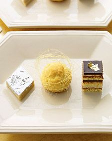 petits fours with a touch of metallic - yesss!