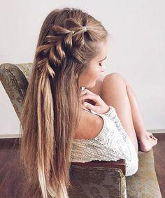 Fascinating Half Braided Long Hairstyles 2018 for Teenage Girls