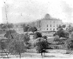 Texas State Capitol First Building - Austin Texas old photo