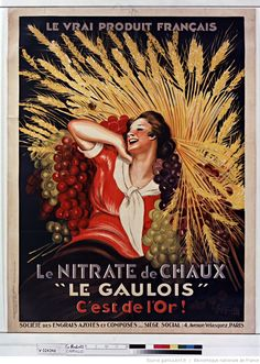 """Title:  Nitrate of Lime """"Le Gaulois"""" This is gold: [poster] / [Leonetto Cappiello]  Author :  Cappiello, Leonetto (1875-1942). Illustrator Publisher:  [Sn]  Publisher:  [News Posters Cappiello. Devambez ...] ([Paris]) Publishing date :  1927  Subject :  Agriculture  (1024×1438)"""
