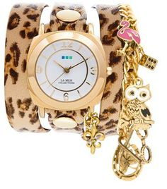 My custom designed watch from La Mer Collections both charm and wrap watch