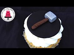 Thor Hammer Cupcake Topper - How To With The Icing Artist - YouTube