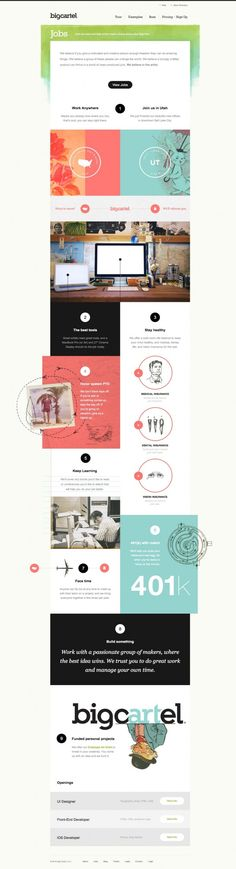 Web design with pastel colors