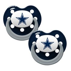 Dallas Cowboys Baby Pacifiers - Pack Of 2