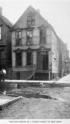 Wrecked house of a Negro family in riot zone.