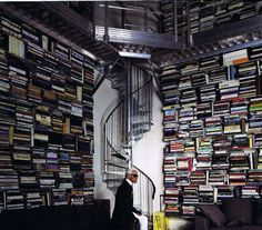 Karl Lagerfeld's home library