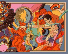 Art Deco Artwork, Art Deco Paintings, Mural Art, Art Deco Illustration, Mexican Artists, Art Deco Home, Book Cover Art, Psychedelic Art, Illustrations And Posters